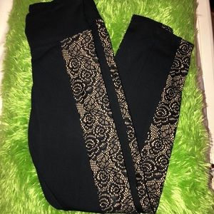 Express High Rise Leggings with Side Design